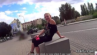 Exquisite czech girl gets teased in the shopping centre and penetrated in pov